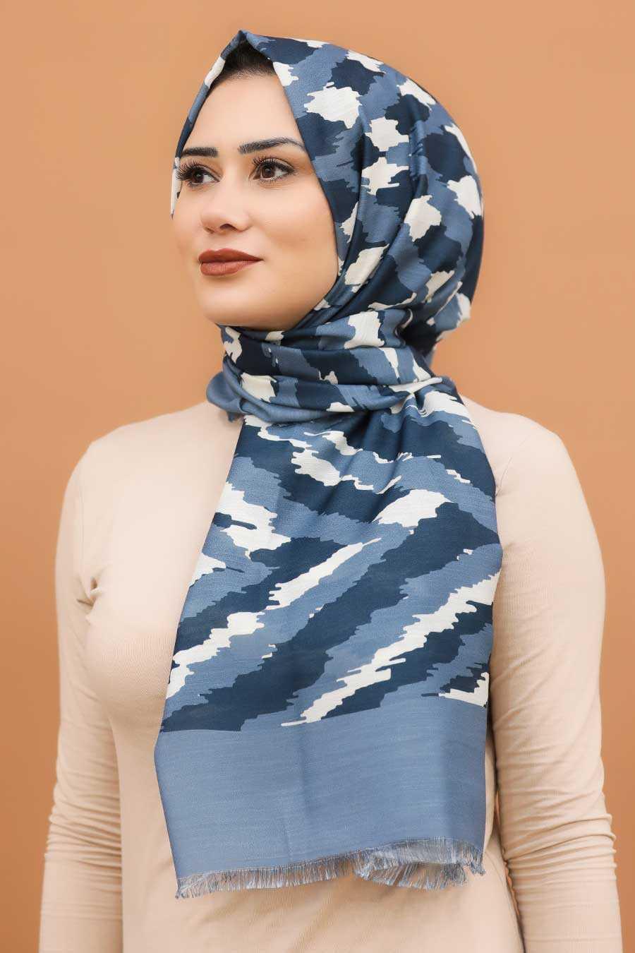 İndigo Blue Hijab Shawl 7567IM