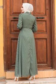 Khaki Hijab Dress 27909HK - Thumbnail