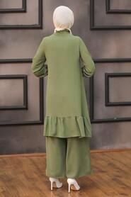 Khaki Hijab Dual Suit Dress 2428HK - Thumbnail