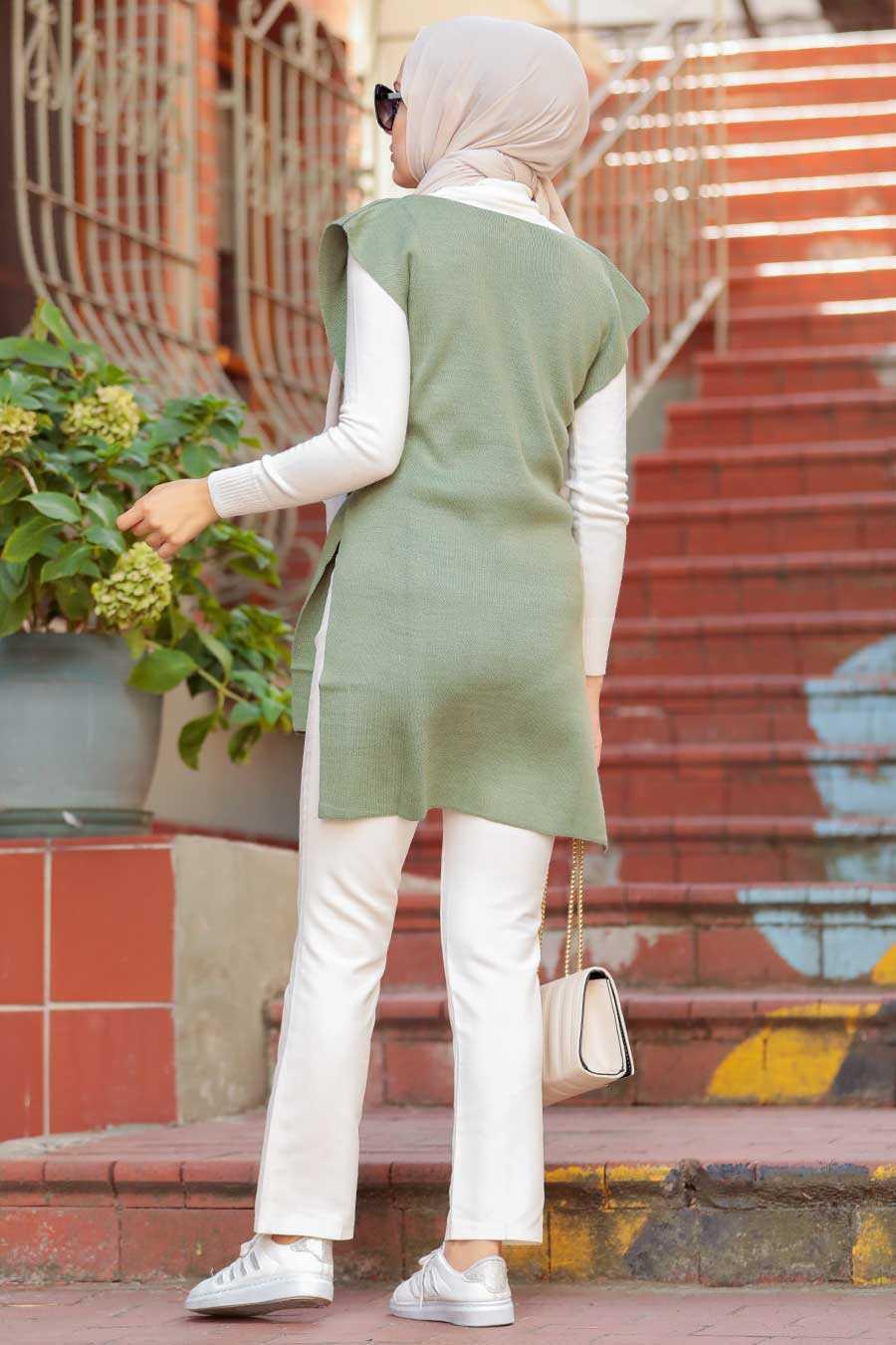 Khaki Hijab Knitwear Sweater 46500HK