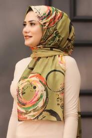 Khaki Hijab Shawl 7564HK - Thumbnail