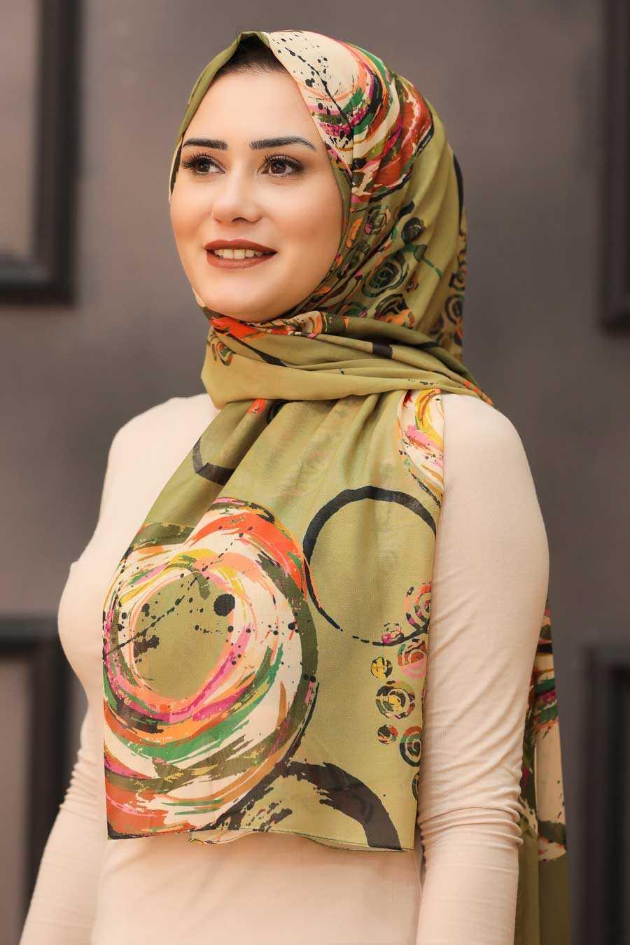 Khaki Hijab Shawl 7564HK