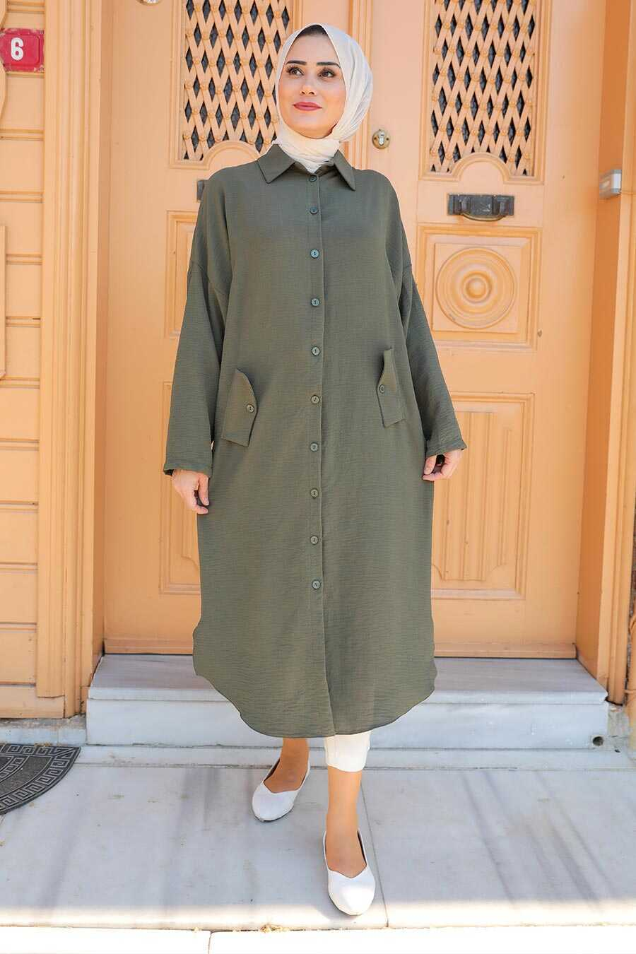 Khaki Hijab Tunic 2424HK