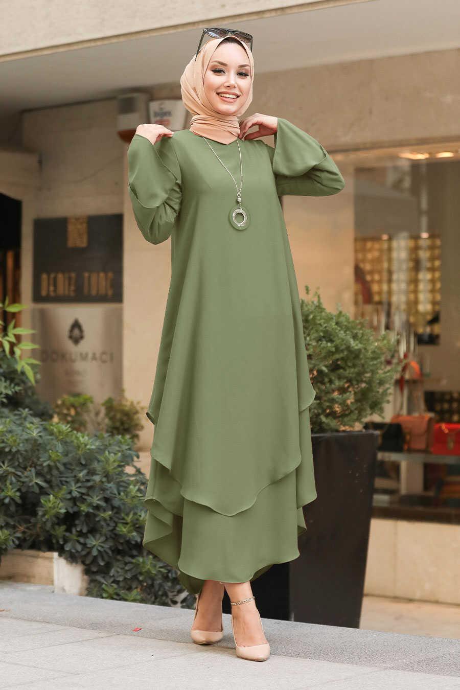 Khaki Hijab Tunic 33170HK