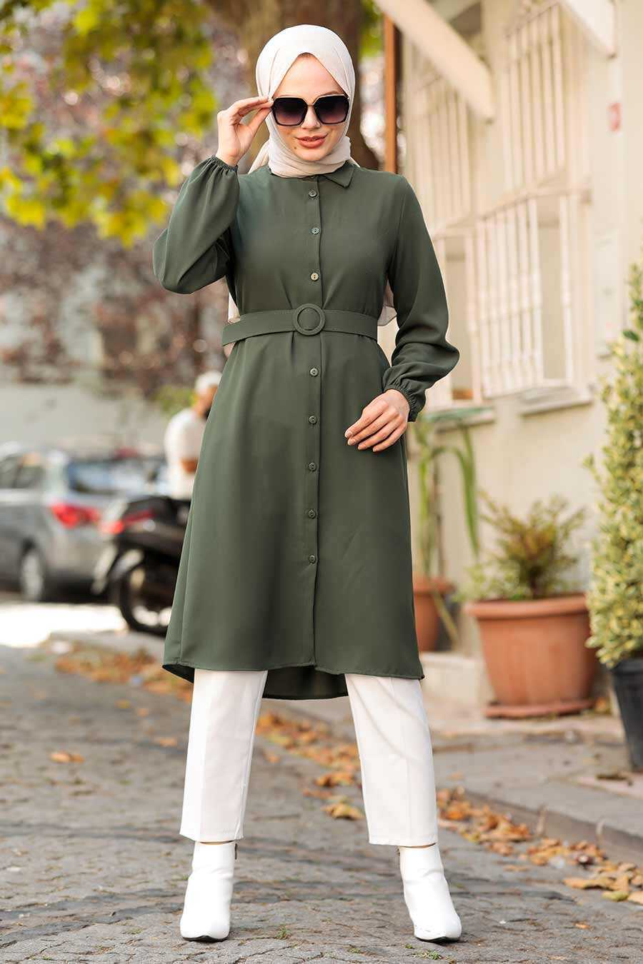 Khaki Hijab Tunic 5641HK
