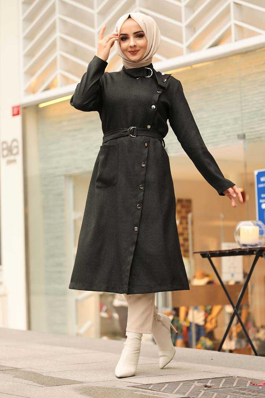 Khaki Hjab Coat 5575HK