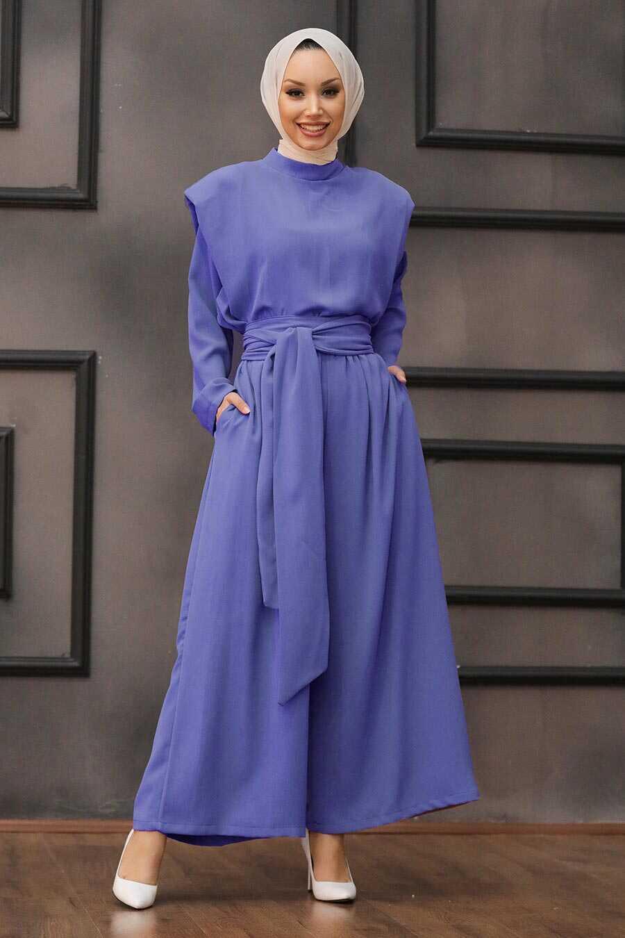 Lavander Hijab Dual Suit Dress 1471LV