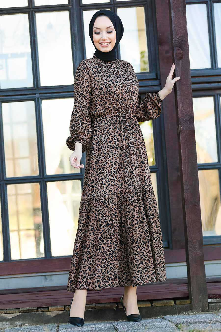 Leopard Hijab Dress 27620LP