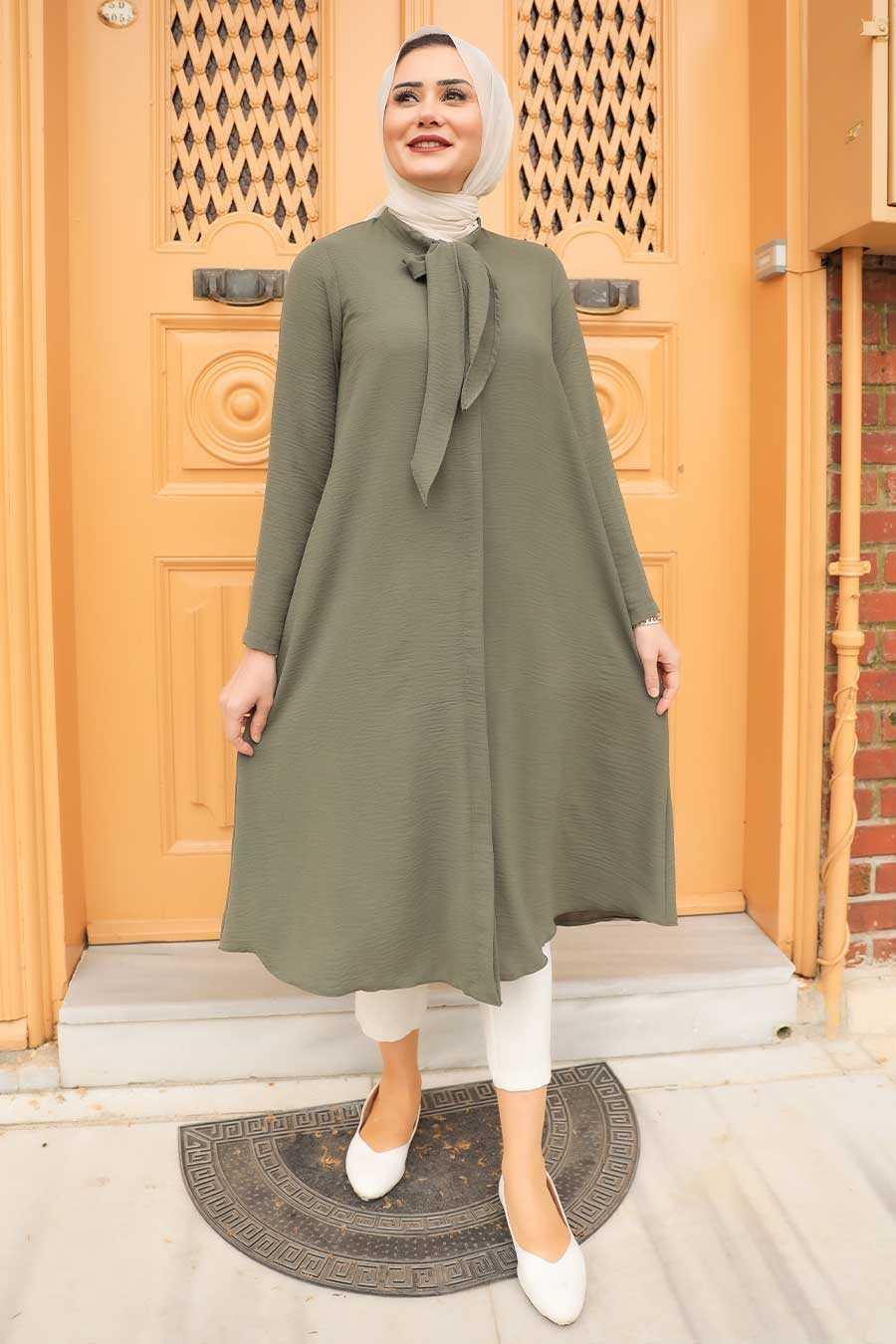 Light Khaki Hijab Tunic 2097AHK