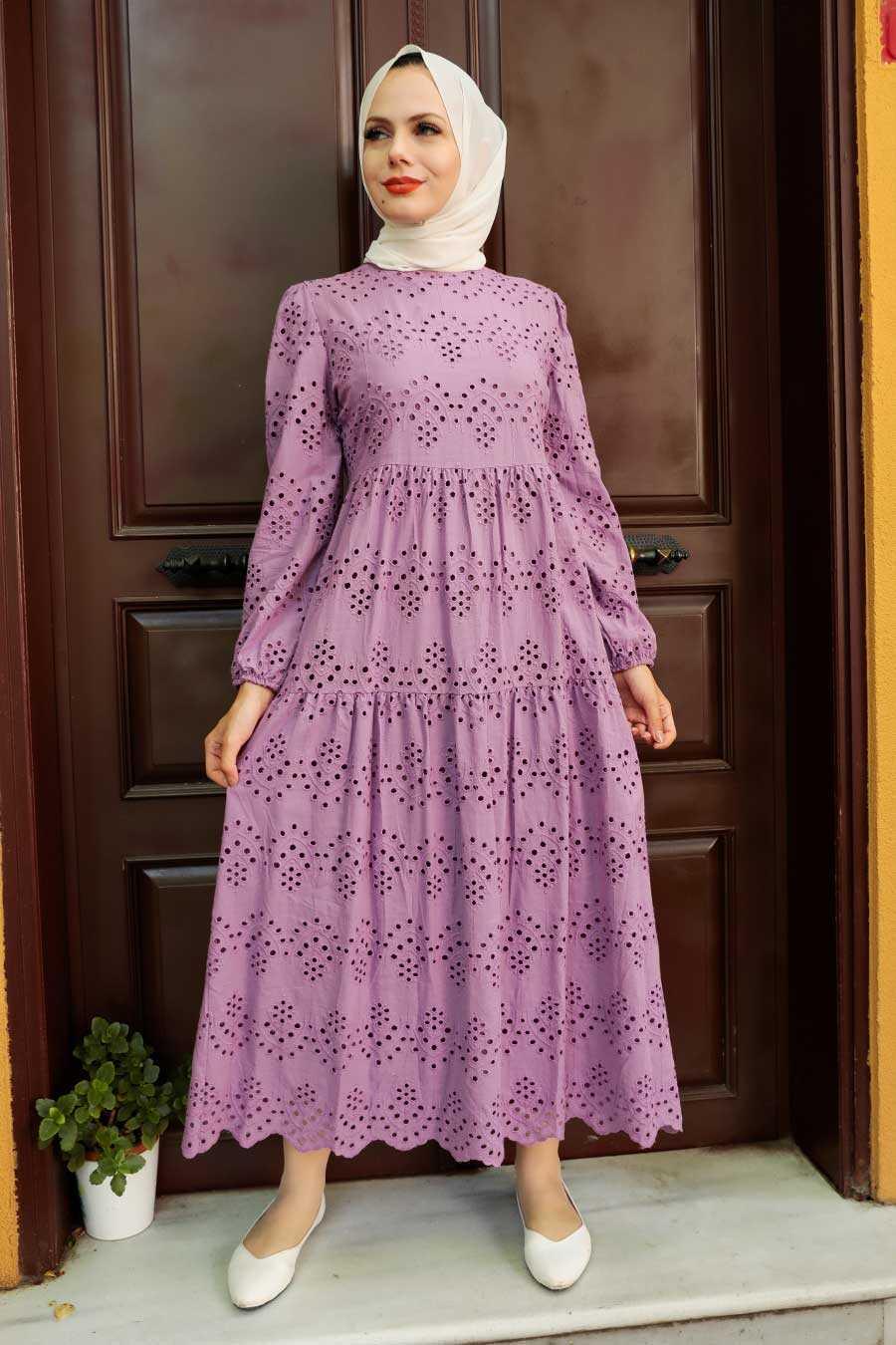 Lila Hijab Dress 1073LILA