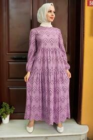 Lila Hijab Dress 1073LILA - Thumbnail