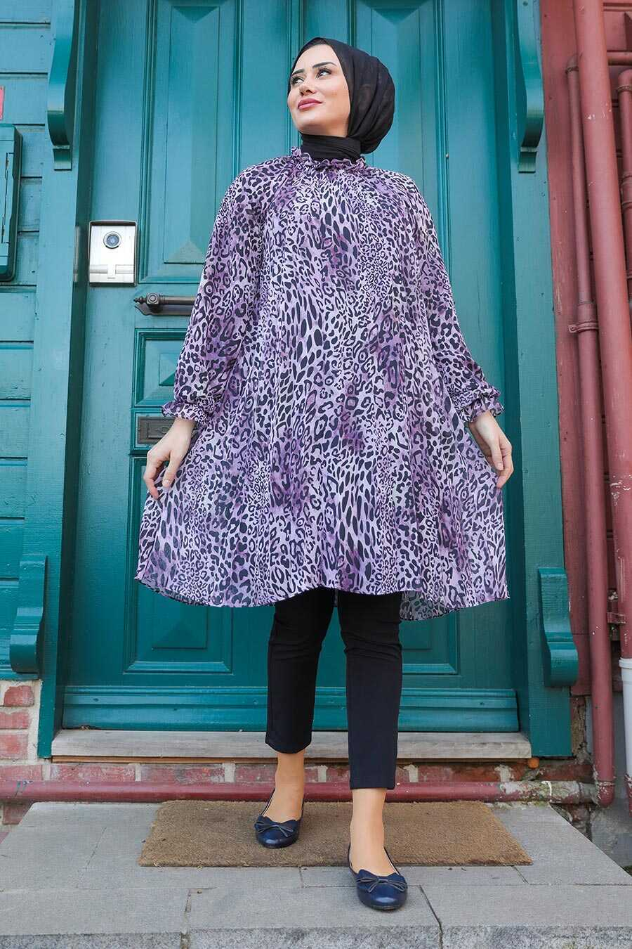 Lila Hijab Dress 1434LILA