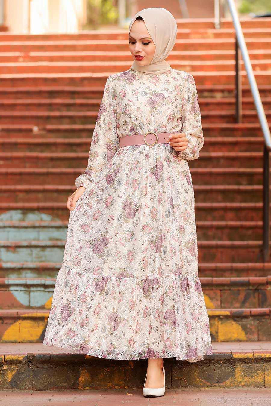 Lila Hijab Dress 22050LILA