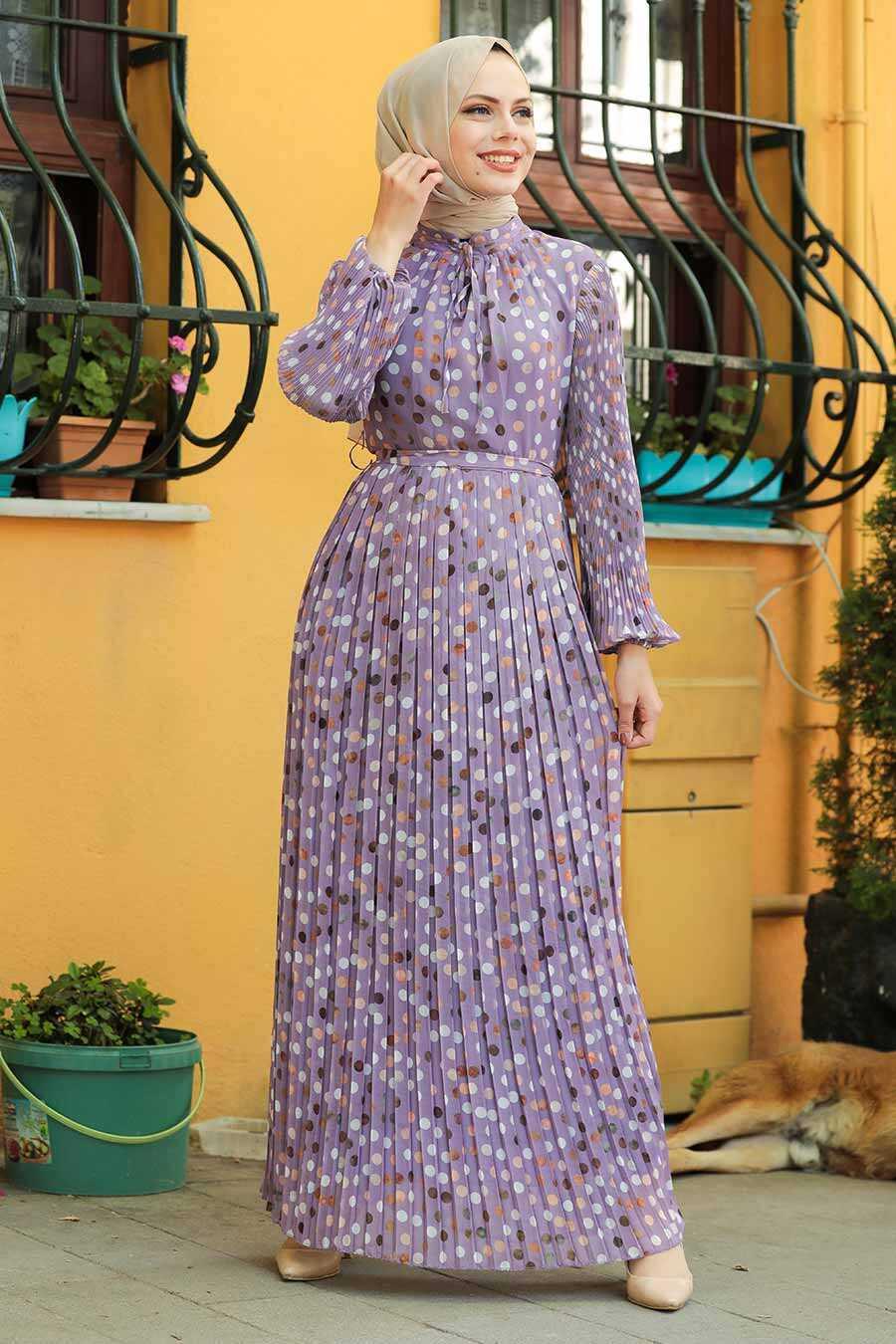 Lila Hijab Dress 27894LILA