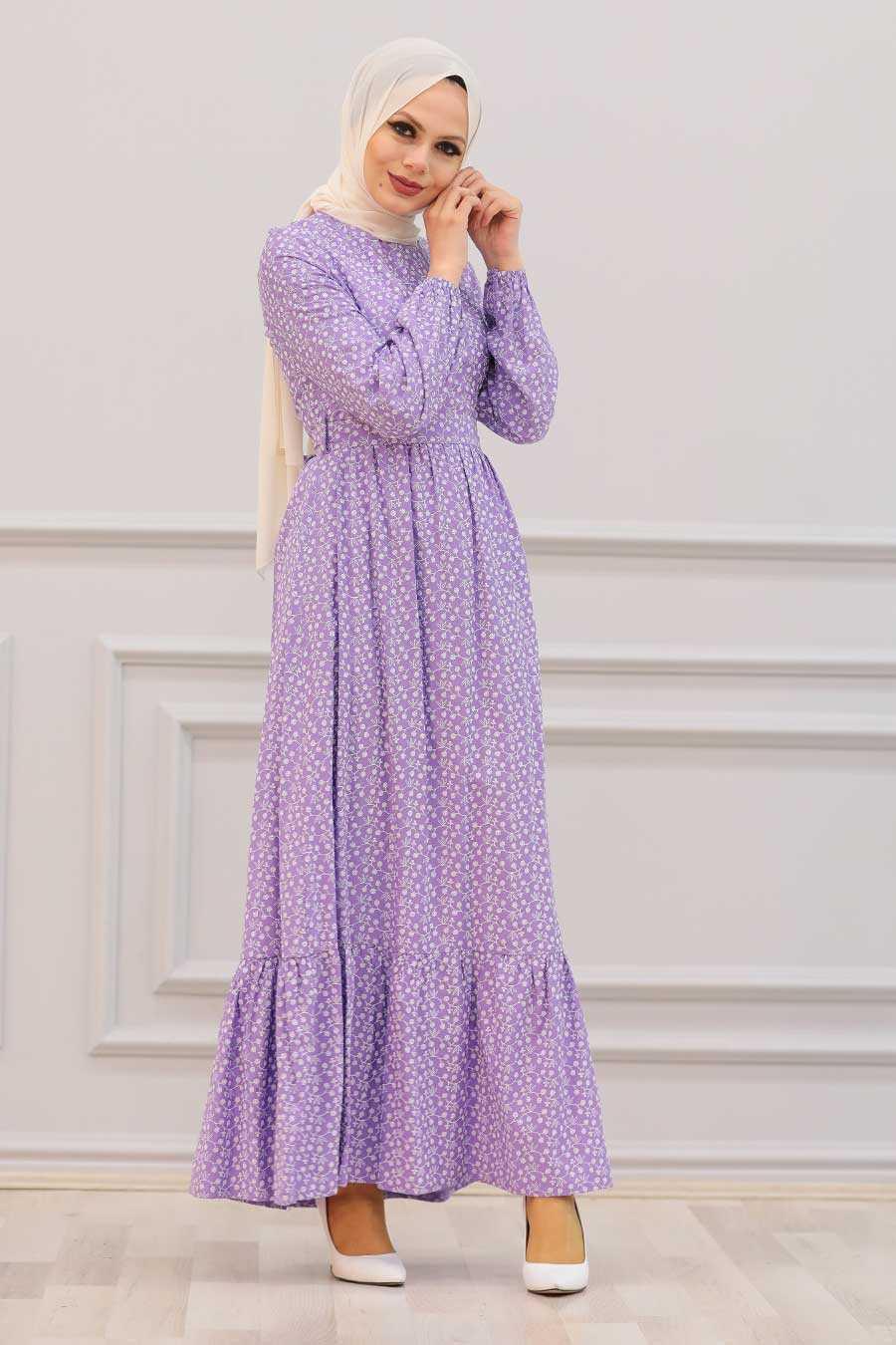 Lila Hijab Dress 28480LILA