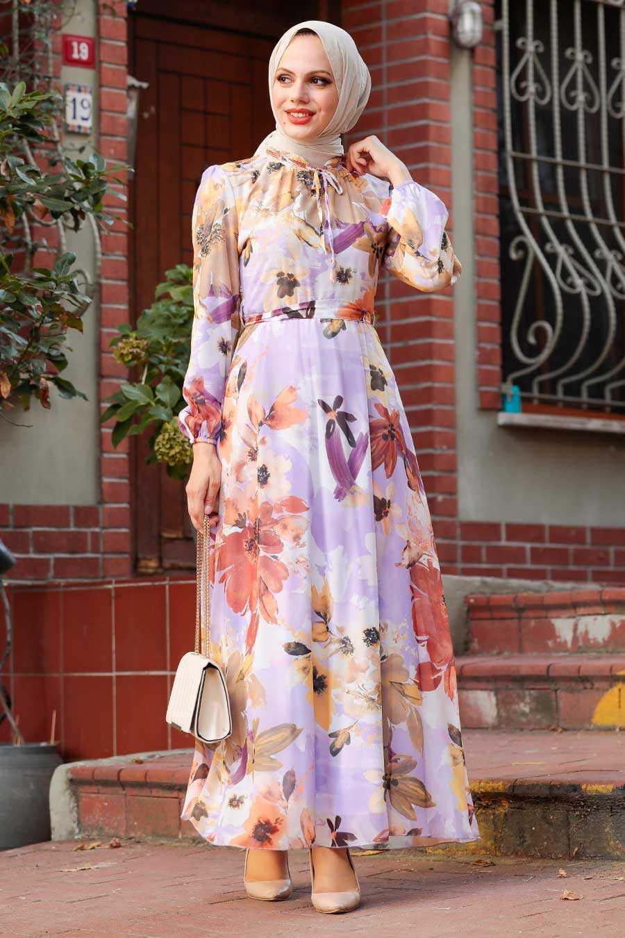 Lila Hijab Dress 71021LILA
