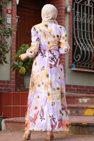 Lila Hijab Dress 71021LILA - Thumbnail