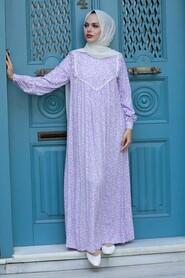 Lila Hijab Dress 7660LILA - Thumbnail