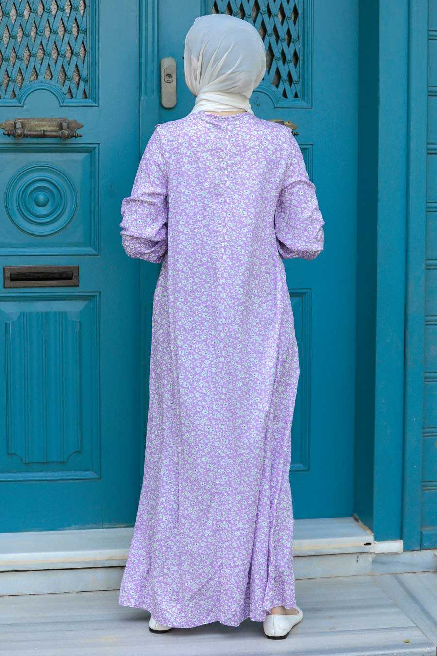 Lila Hijab Dress 7660LILA