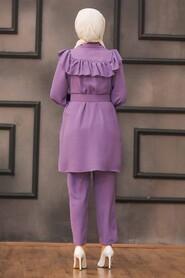 Lila Hijab Dual Suit Dress 14701LILA - Thumbnail