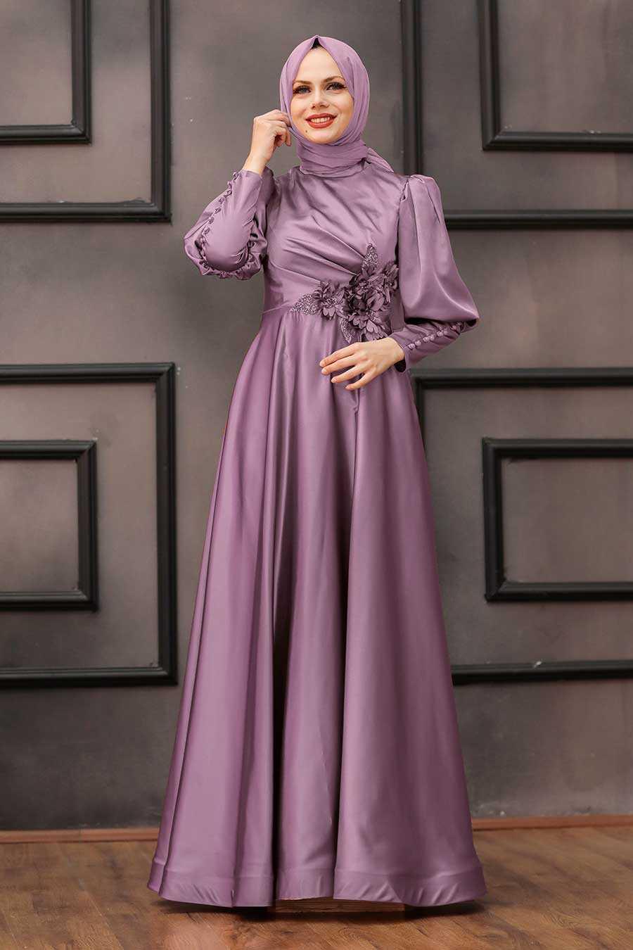 Lila Hijab Evening Dress 2205LILA