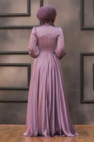 Lila Hijab Evening Dress 22150LILA - Thumbnail