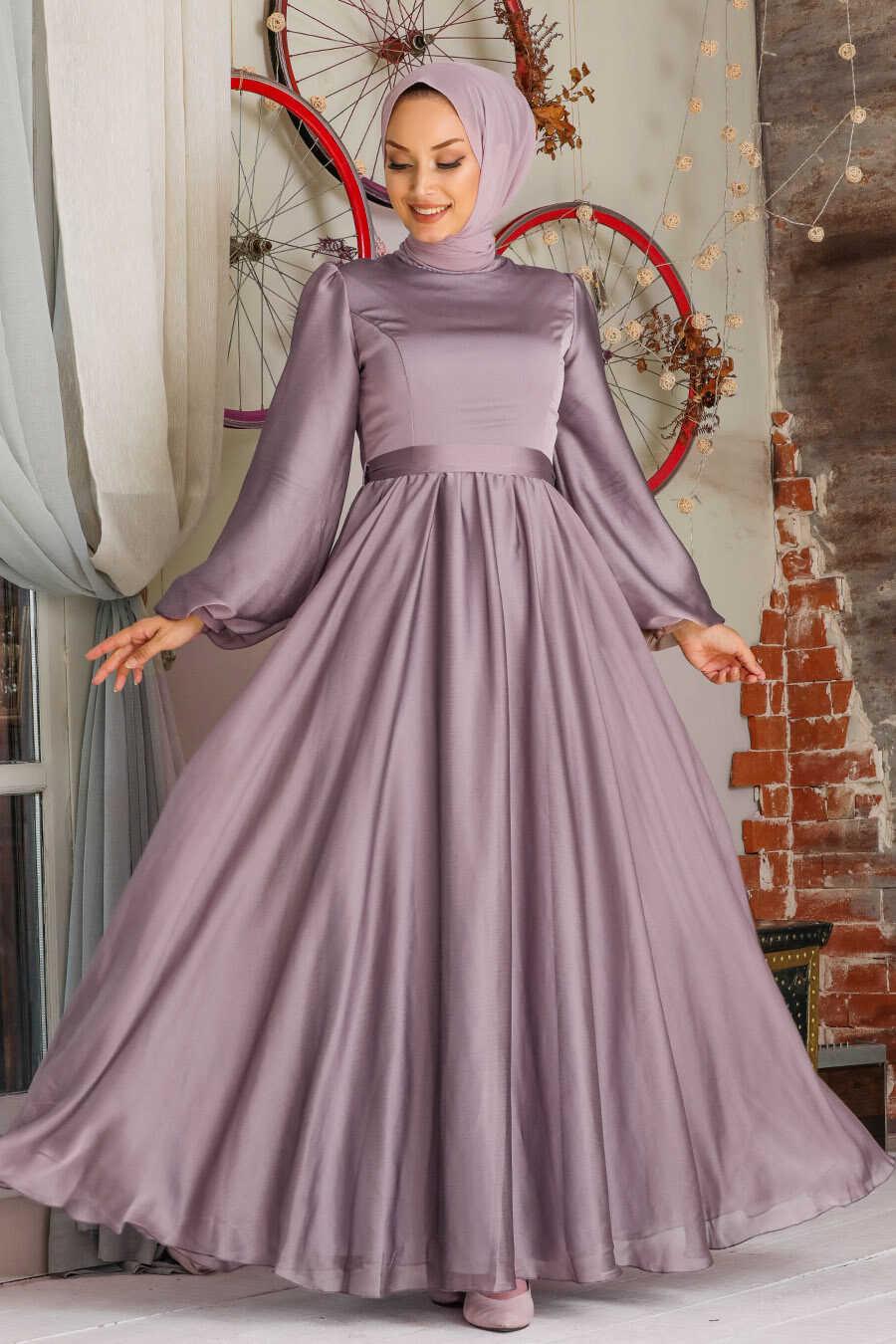 Lila Hijab Evening Dress 5215LILA