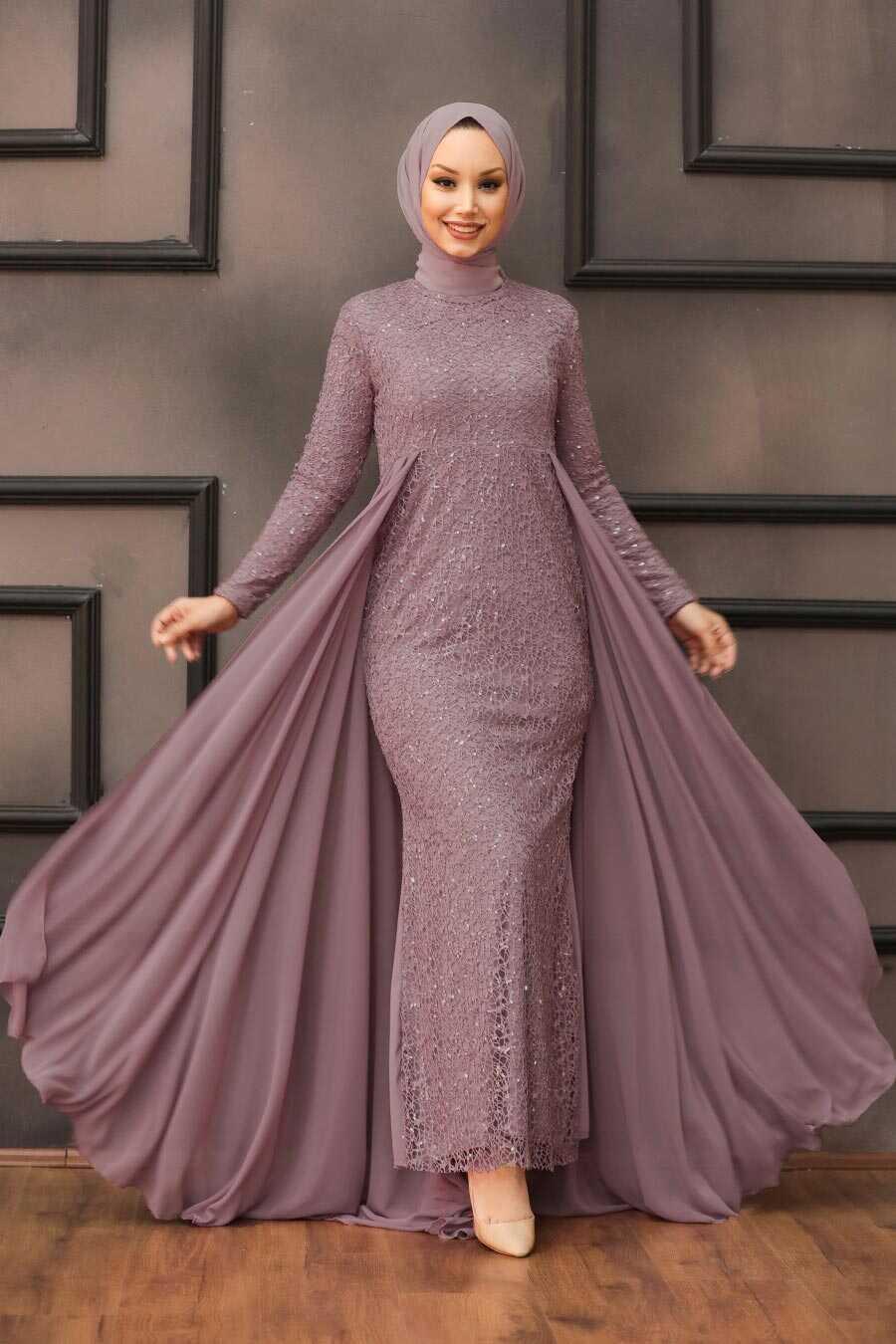 Lila Hijab Evening Dress 90000LILA