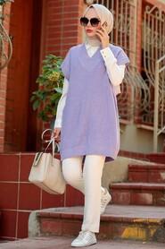 Lila Hijab Knitwear Sweater 7836LILA - Thumbnail