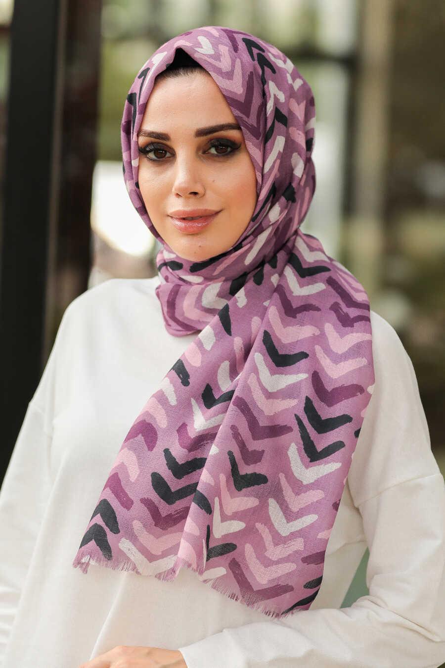 Lila Hijab Shawl 7516LILA