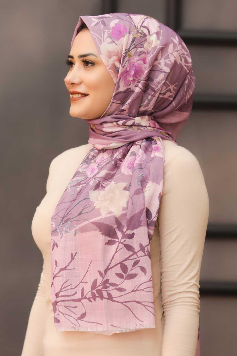 Lila Hijab Shawl 7565LILA