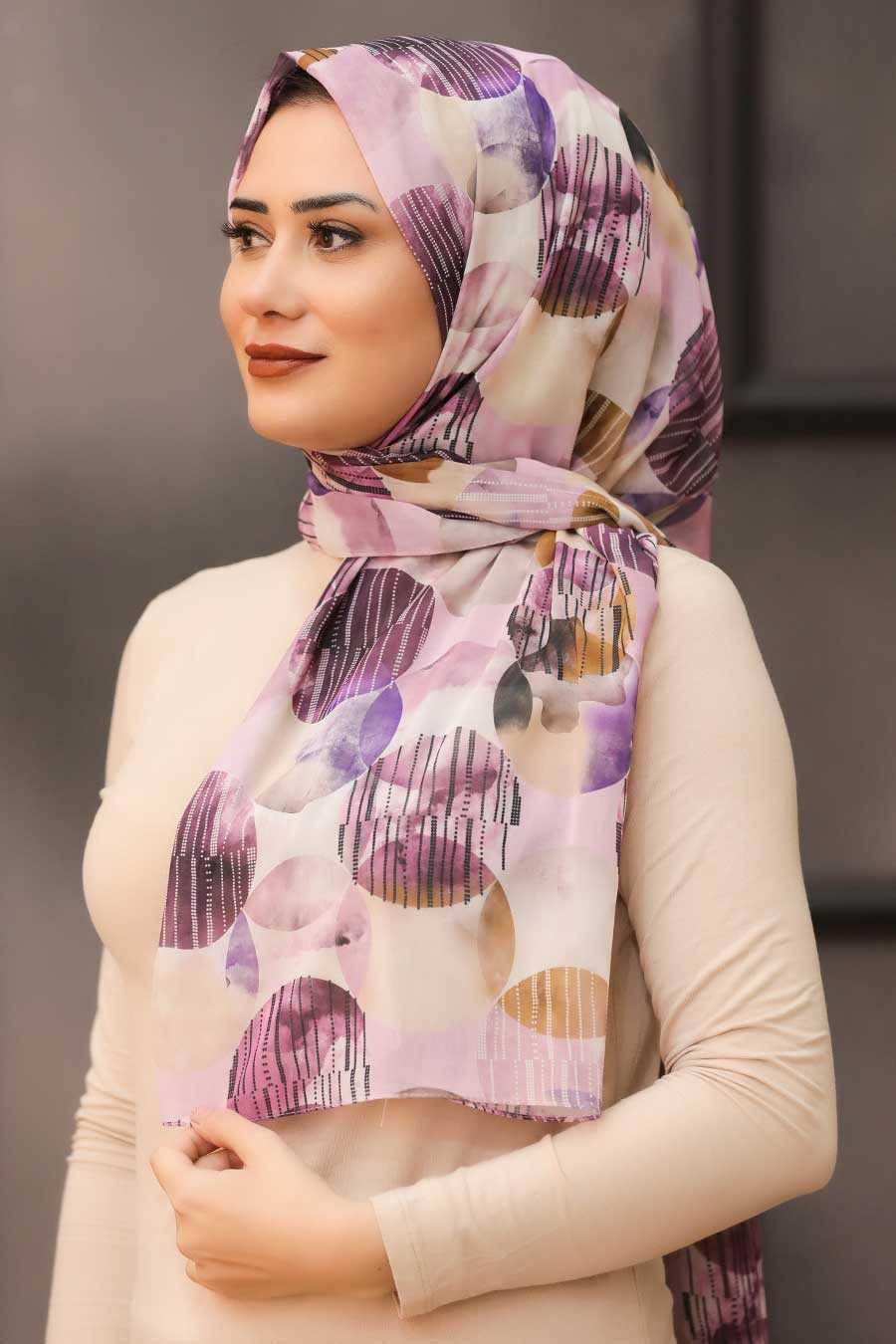 Lila Hijab Shawl 7568LILA