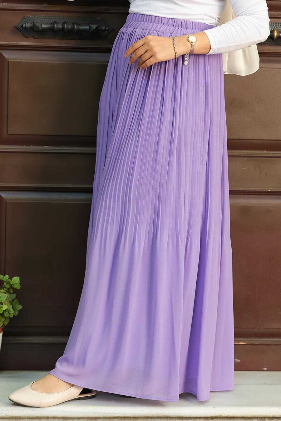 Lila Hijab Skirt 32140LILA