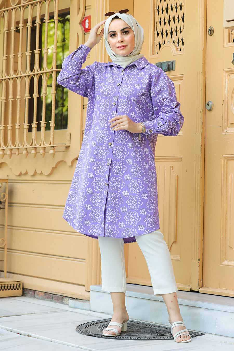 Lila Hijab Tunic 20350LILA