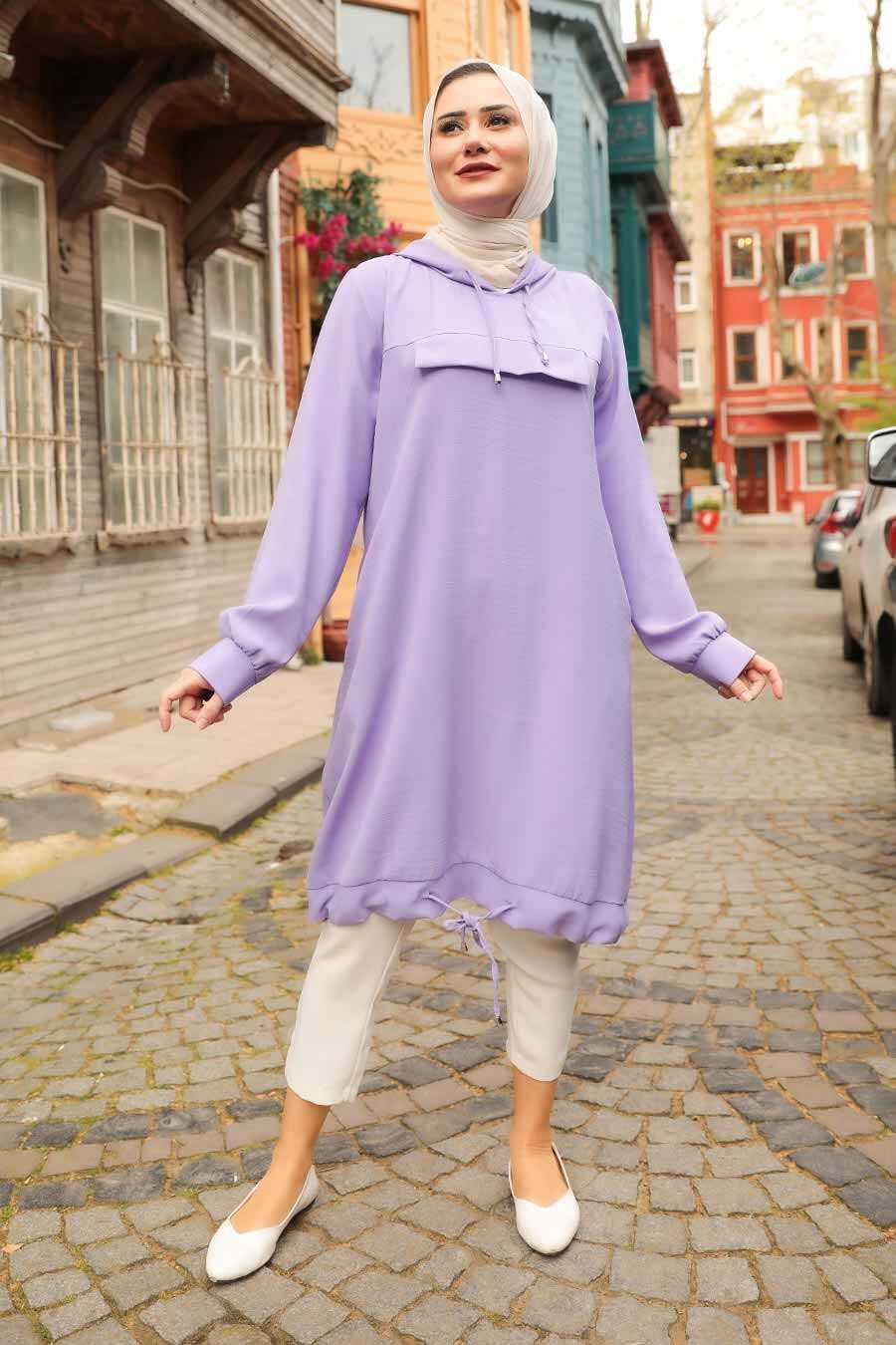 Lila Hijab Tunic 22850LILA