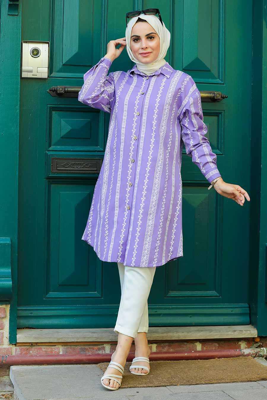 Lila Hijab Tunic 5645LILA