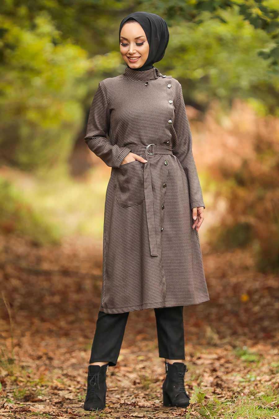 Mink Hijab Coat 5575V
