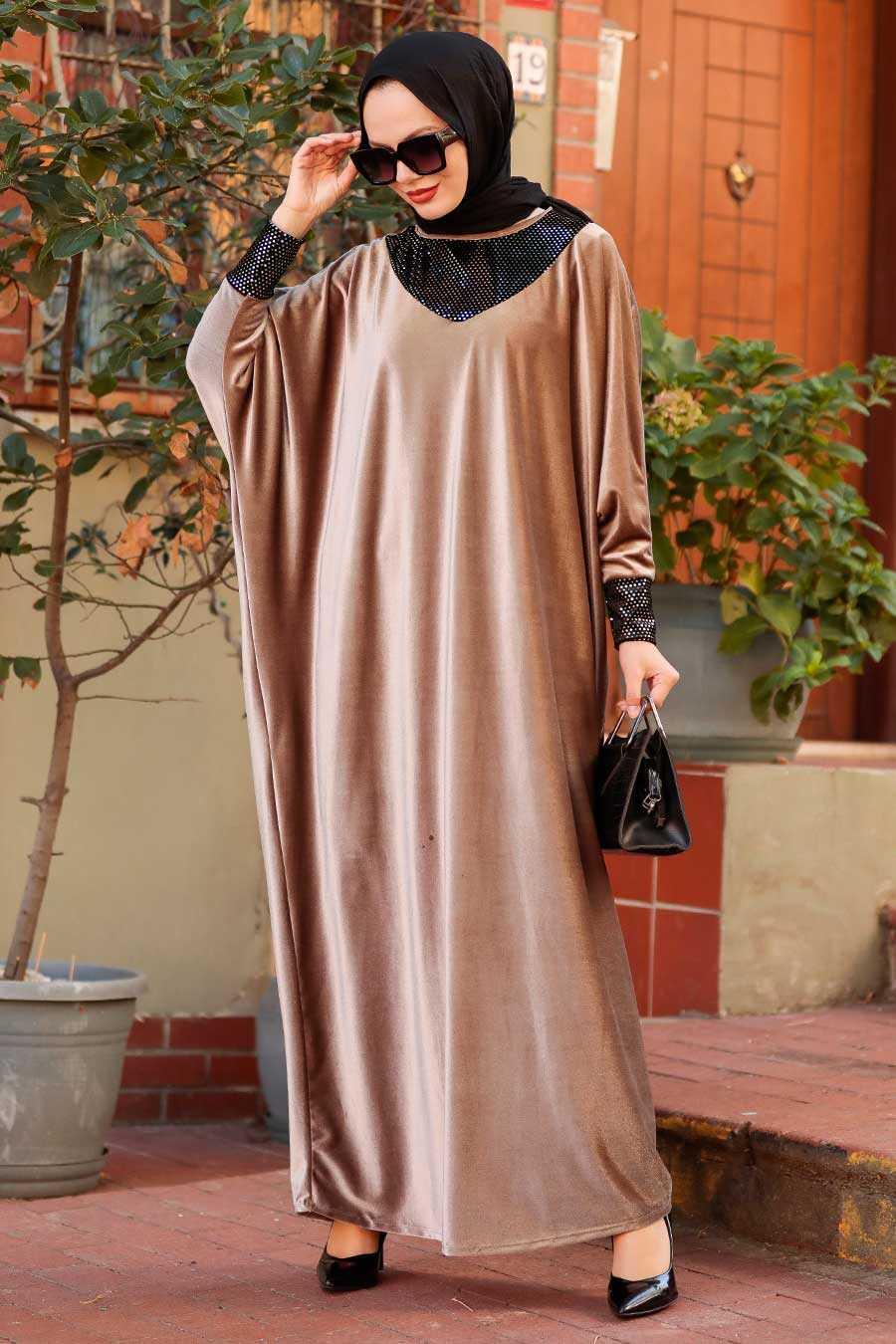 Mink Hijab Dress 10561V