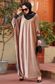Mink Hijab Dress 10561V - Thumbnail