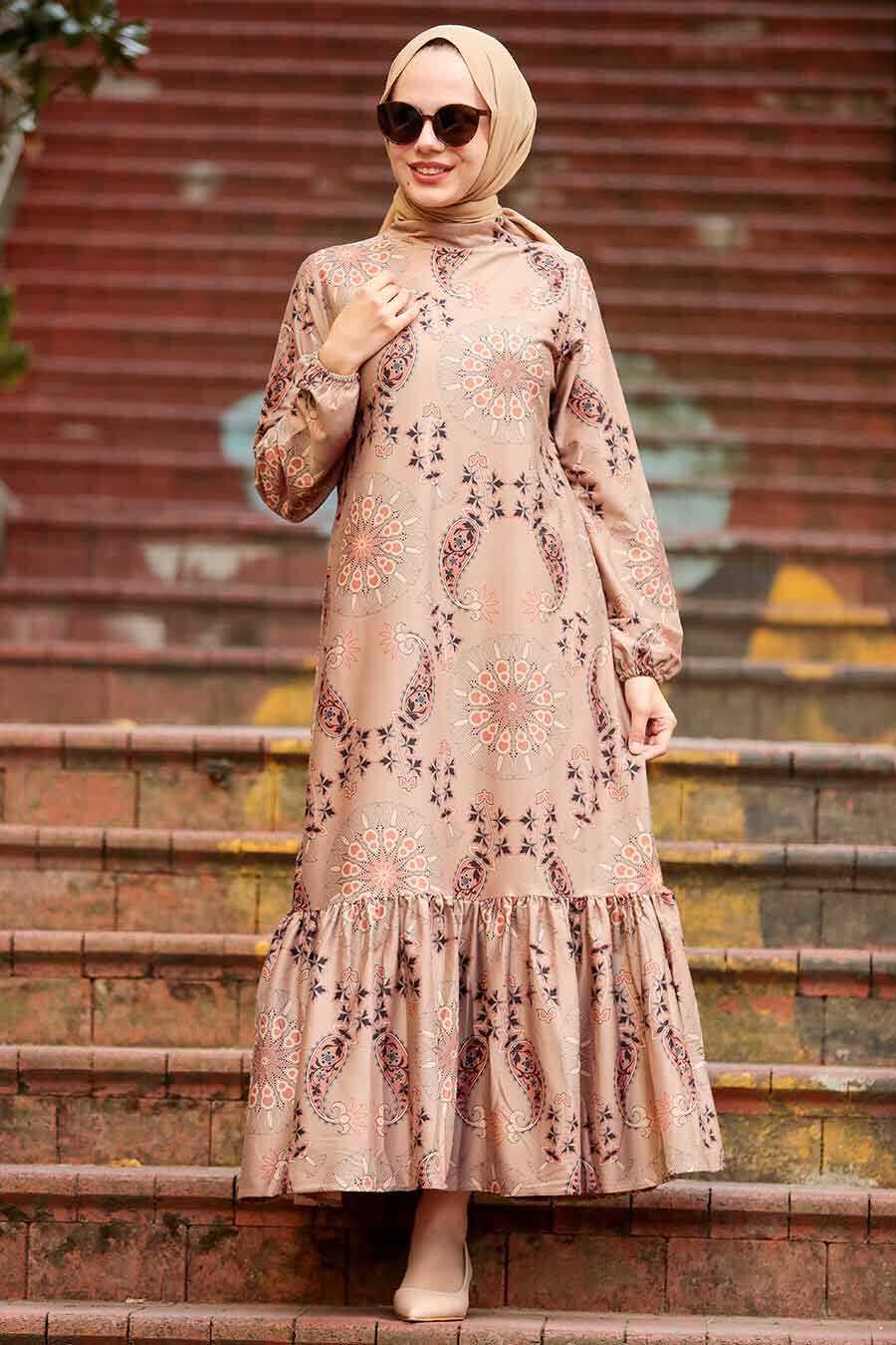 Mink Hijab Dress 11851V