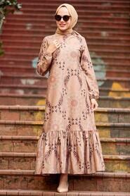 Mink Hijab Dress 11851V - Thumbnail