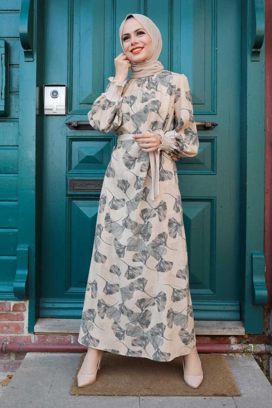 Mink Hijab Dress 12340V