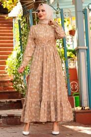 Mink Hijab Dress 22152V - Thumbnail