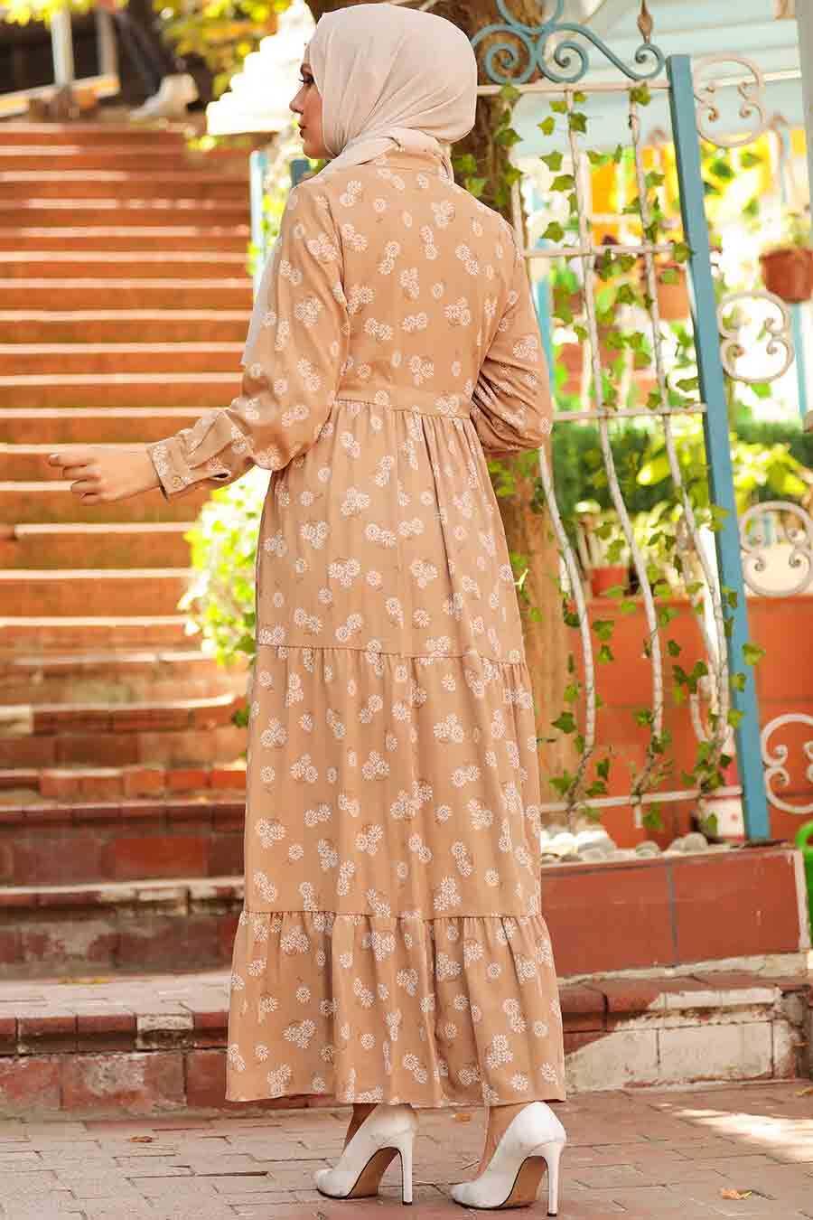 Mink Hijab Dress 22152V