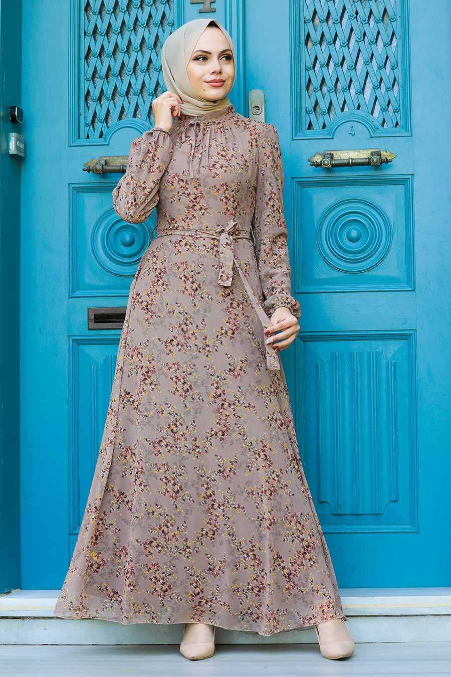 Mink Hijab Dress 279011V
