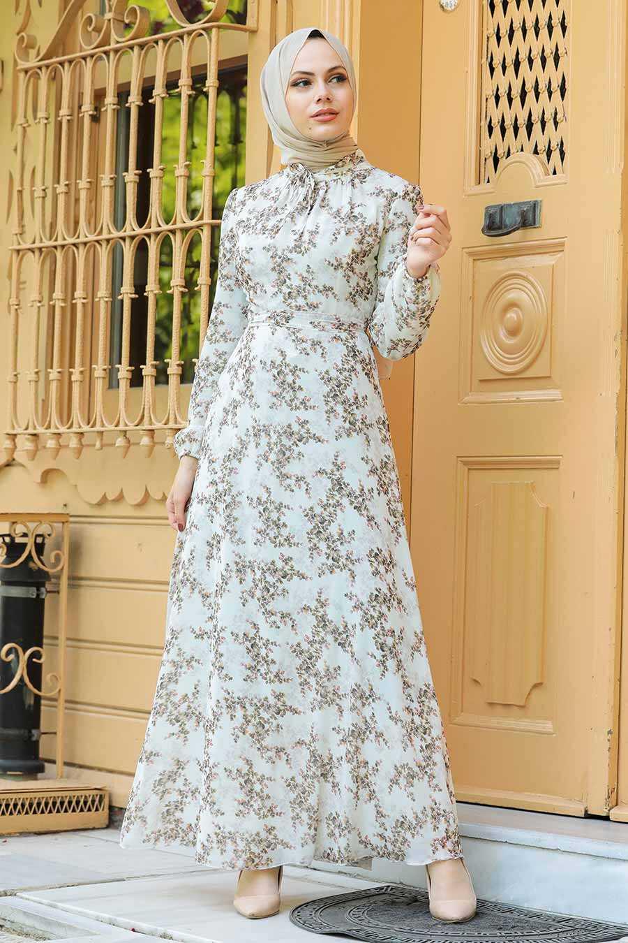 Mink Hijab Dress 279012V