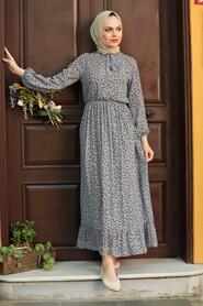 Mink Hijab Dress 4339V - Thumbnail