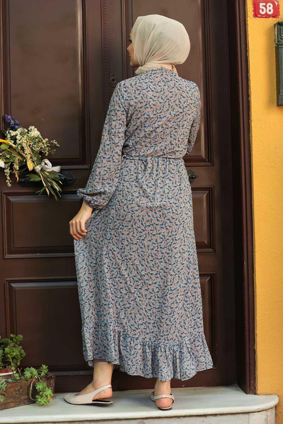 Mink Hijab Dress 4339V