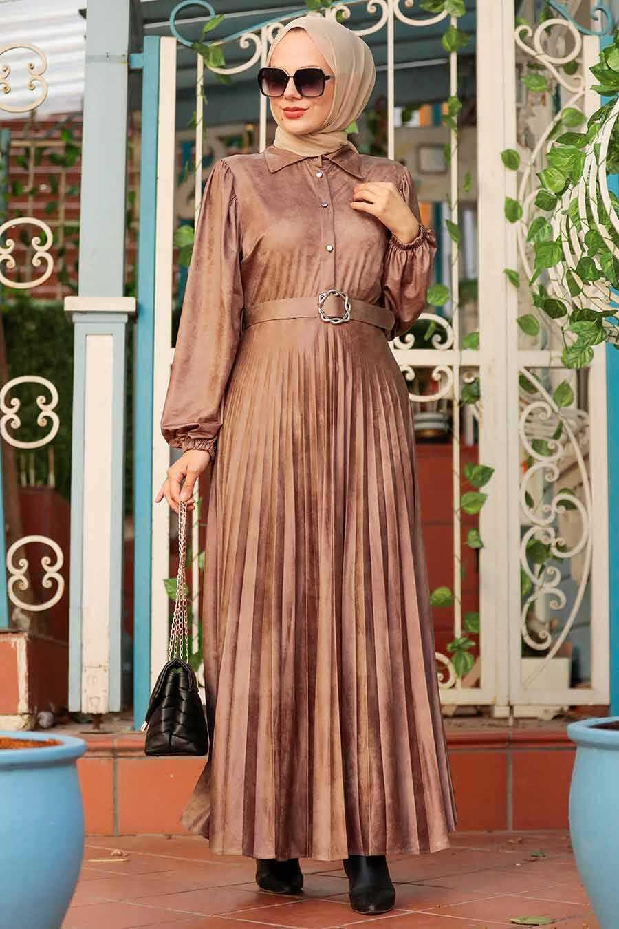 Mink Hijab Dress 7630V