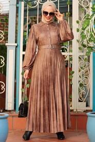 Mink Hijab Dress 7630V - Thumbnail